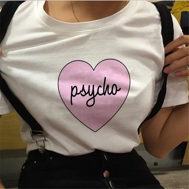 Letra Mujer Camiseta Estampada Mujer Corazon Letra Camiseta CodWxBer