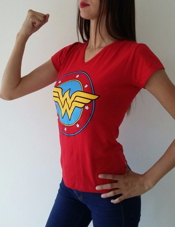 S Maravilla Mujer L Super M Heroes Camiseta gqtxYz