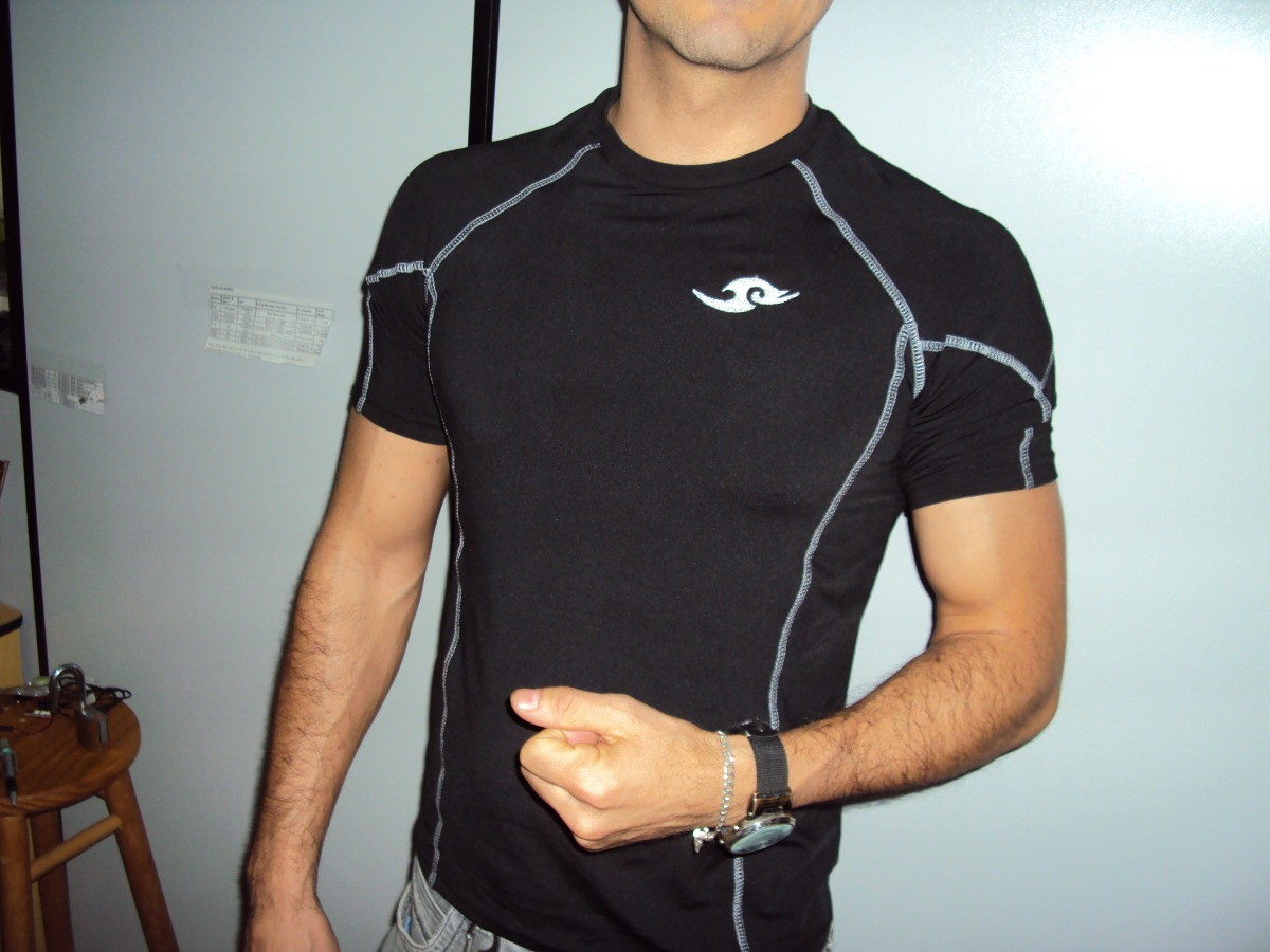 44abbdb7f3da7 camiseta musculacao fitness academia elastica masculina dry. Carregando  zoom.