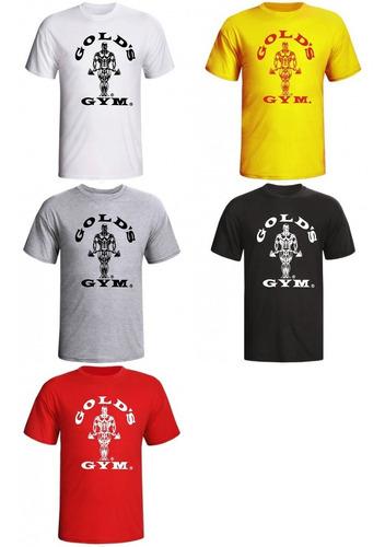camiseta musculação gold's gym