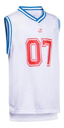camiseta musculosa topper basketball de niño /niña mvd sport