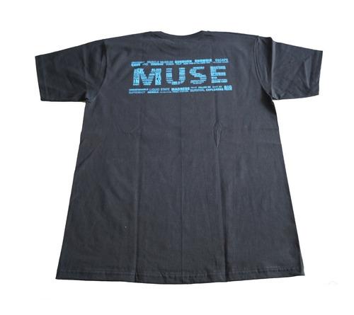 camiseta muse rock activity importada talla m
