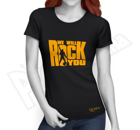 You Will Queen Mujer Rock Camiseta Music We Ygf7b6y