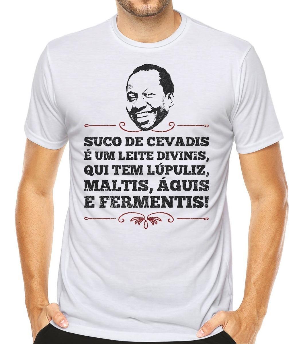 Camiseta Mussum Humor Engraçado Memes Frases Cerveja