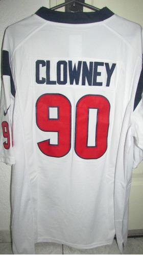 camiseta n. f. l. houston texans #90 clowney              l