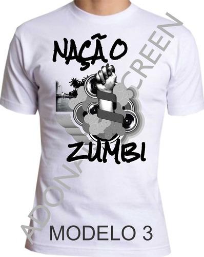 camiseta nação zumbi m-3