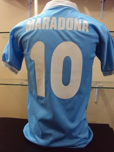 camiseta napoli celeste 10 maradona - todos los talles