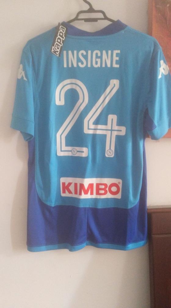 bd45edd7f9 Camiseta Napoli Local Kappa 17-18 Lorenzo Insigne 24 -   24.990 en ...