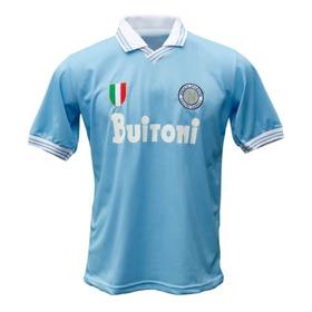 Camiseta Napoli Titular Modelo Retro #10 Maradona