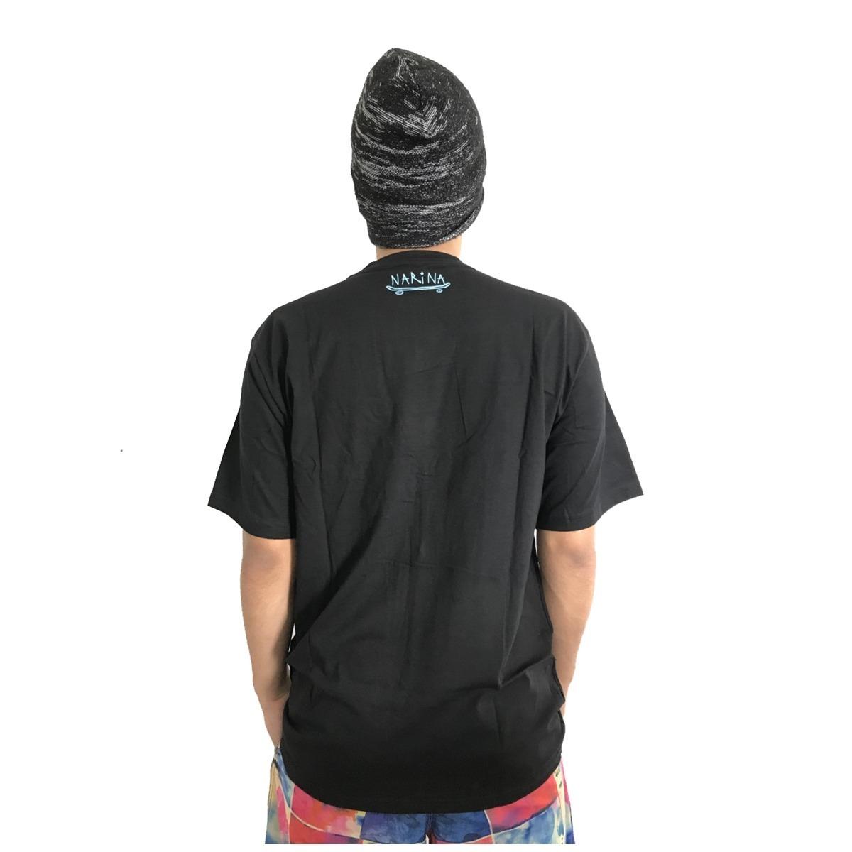Camiseta Narina Skate Logo Riscado Preta - R  69 f3b4373834a