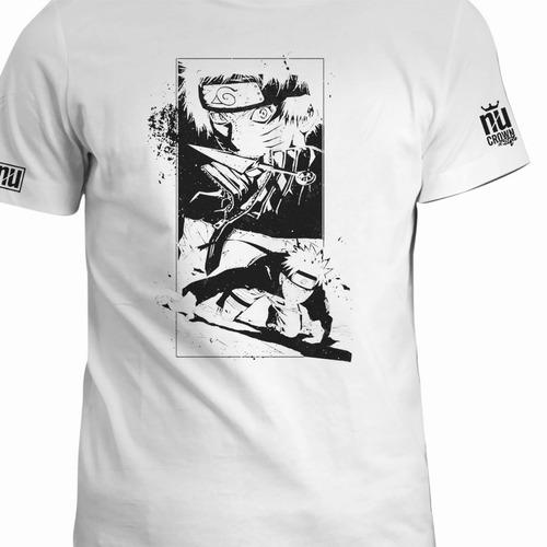 camiseta naruto shippuden estampad hombre original negra eco