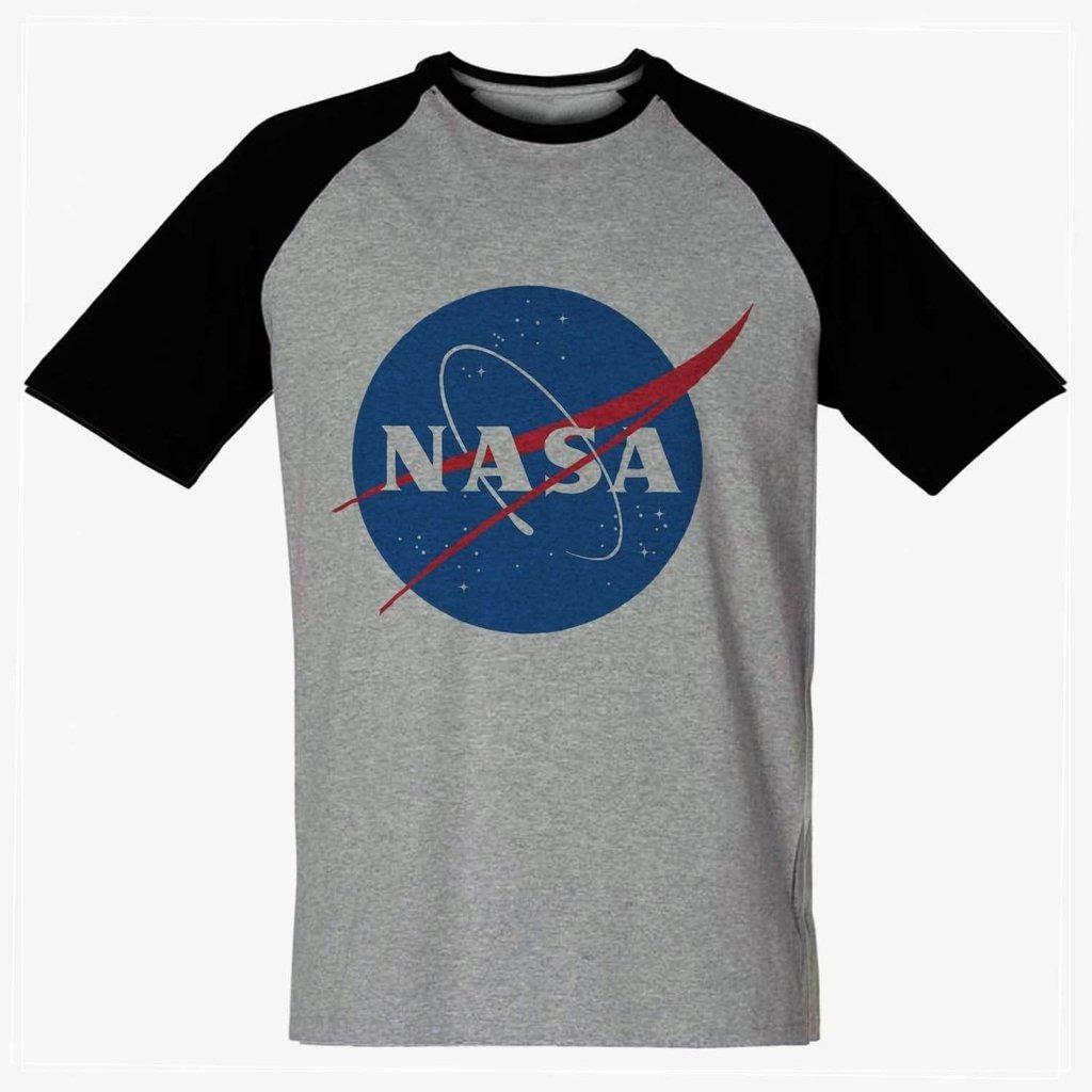 f51150588 camiseta nasa cinza mescla masculina nerd geek camisa barata. Carregando  zoom.