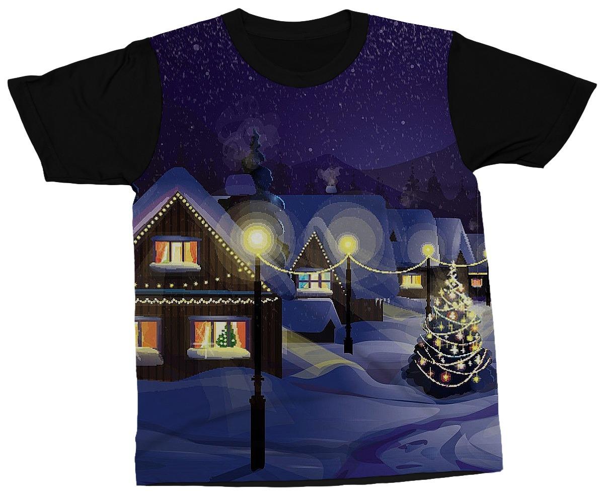 Camiseta Natal Luzes Árvore Christmas Blusa Estampa Camisa - R  49 ... 1ef89b4387799