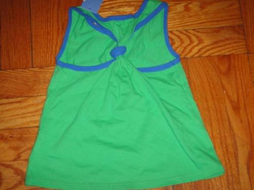 camiseta nautica playera nina 3t verde ( 186 )