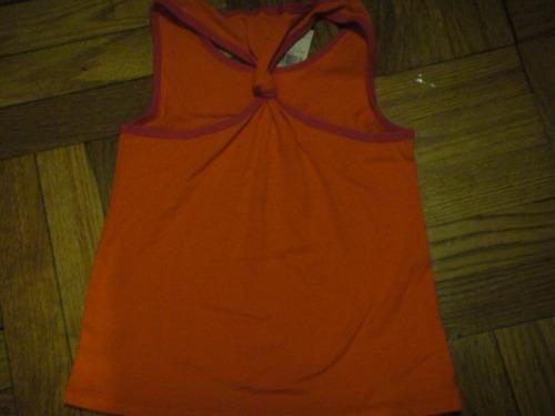 camiseta nautica playera nina large 7 naranja ( 266 )