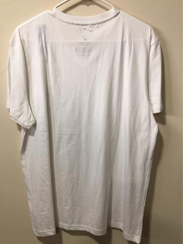 camiseta náutica talla l, llana color blanca, cuello en v
