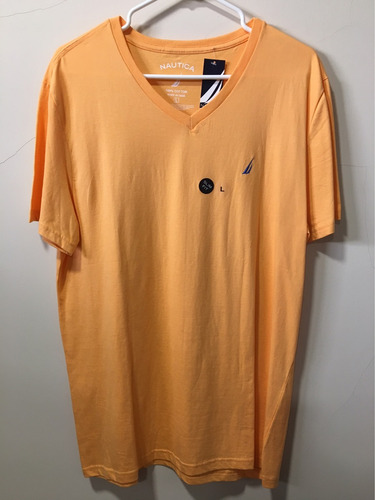 camiseta náutica talla l, llana color melón