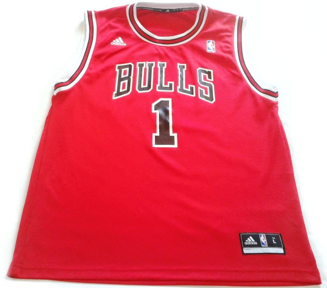 8c29b1e4d camiseta nba adidas derrick rose chicago bulls talle s orig. Cargando zoom.