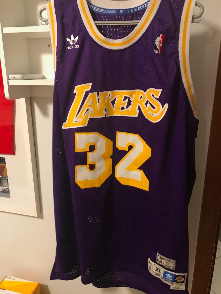 timeless design 7651b 73992 Camiseta Nba Lakers Magic Johnson adidas Original Tam. P