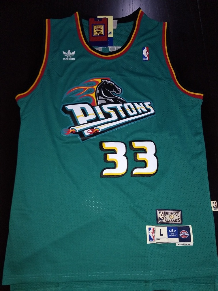buy popular db023 0d3f5 Camiseta Nba Retro - #33 Grant Hill - Detroit Pistons