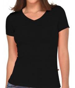 Lycra Cuello Para Mujer V En Camiseta Negra 3FJK1lcT