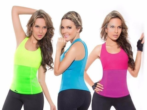 camiseta neotex hot suda reduce moldea tonifica top colores