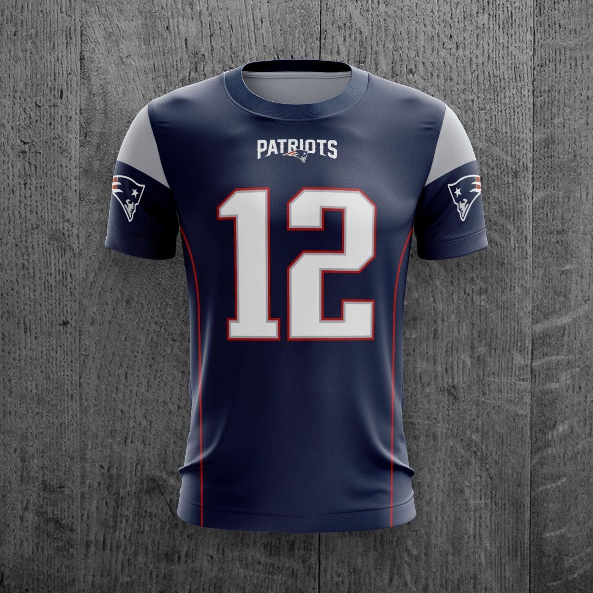 4d421b5df Camiseta New England Patriots Nfl Pats Personalizada C  Nome - R  69 ...
