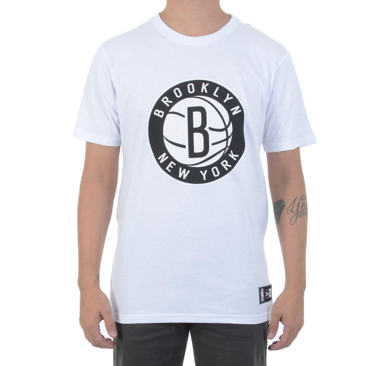 camiseta new era brooklyn new york logo nba branca. Carregando zoom. 48d99768a4a