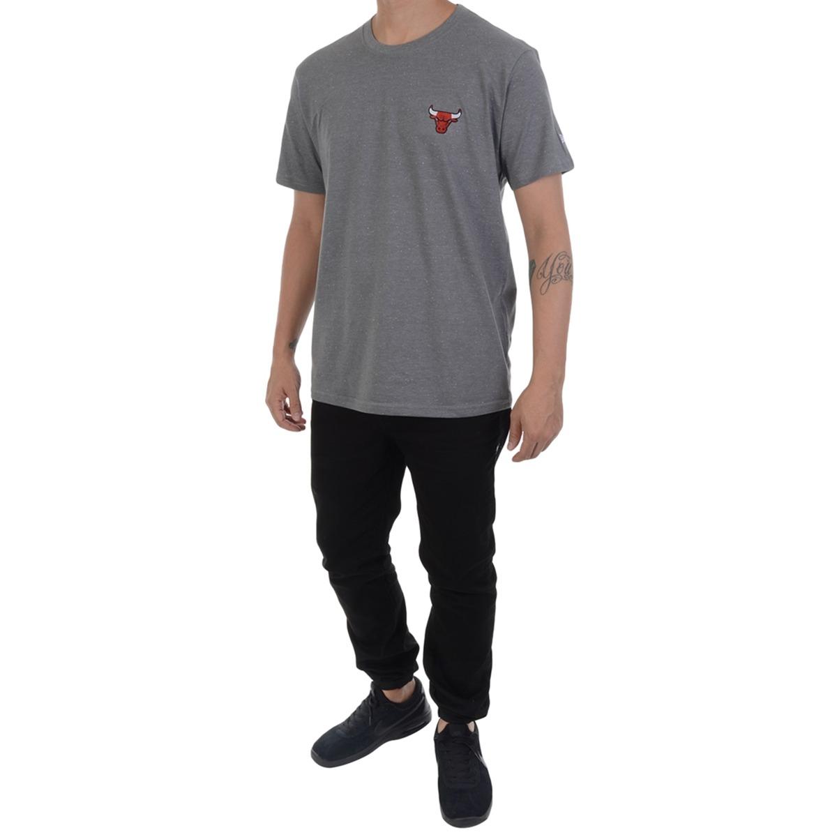 2ee1af5161 Camiseta New Era Chicago Bulls Nba Chumbo - R  69