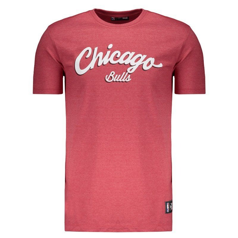 camiseta new era nba chicago bulls vermelha mescla. Carregando zoom. d9d42acae7c89