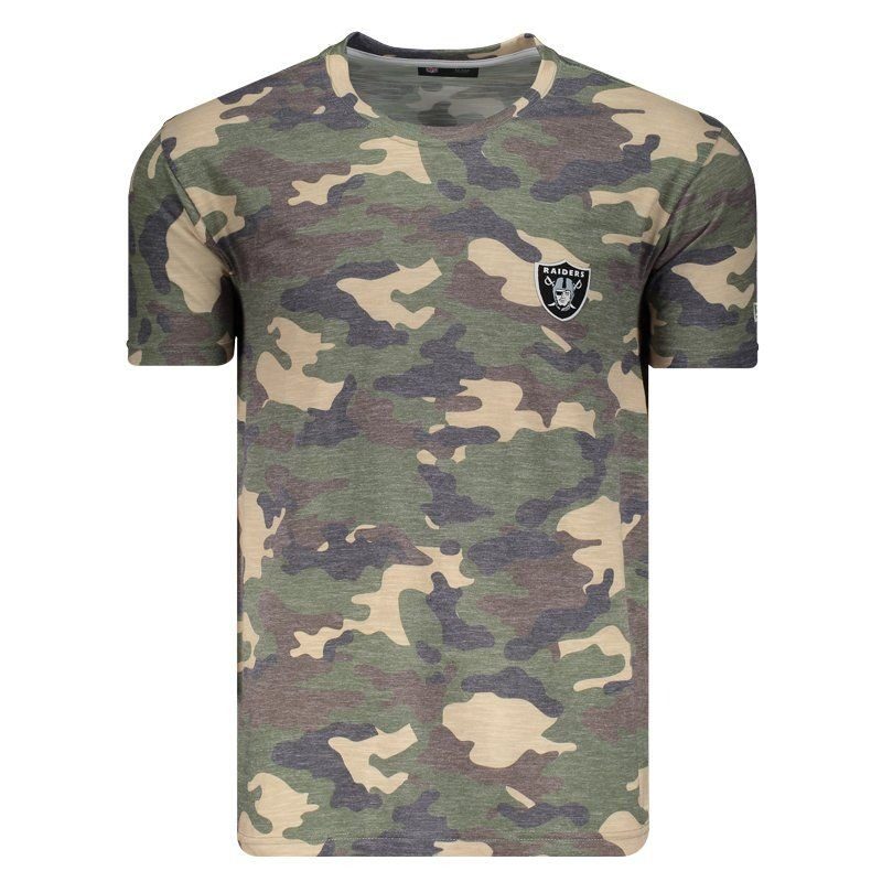 fa66fceee8 camiseta new era nfl oakland raiders camuflada. Carregando zoom.