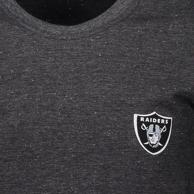 6c1e79e856f41 camiseta new era nfl oakland raiders preta mescla. Carregando zoom.