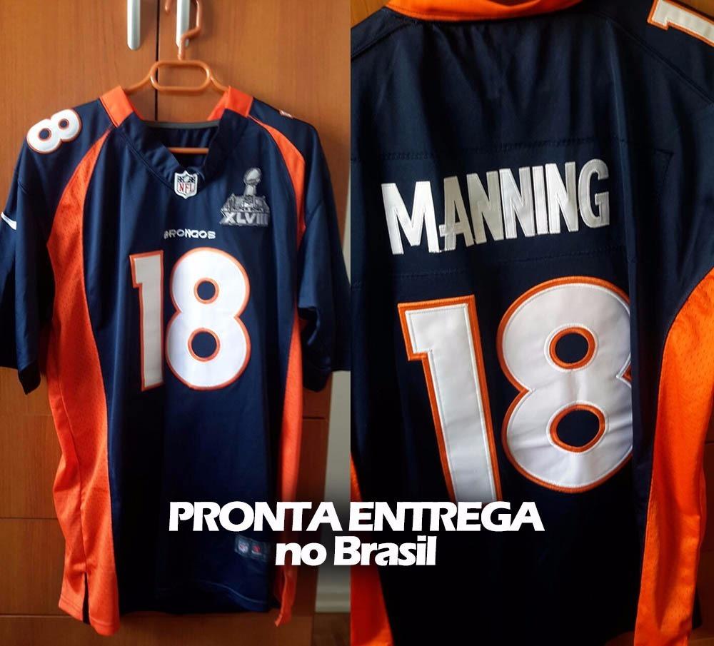 63c2cbd21 Camiseta Nfl Jersey Futebol Americano Nfl Denver Broncos 18 - R  288 ...