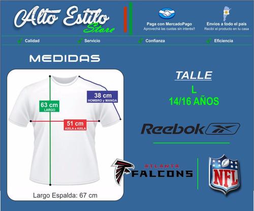 camiseta nfl reebok atlanta falcons vick l(14-16 años)origin