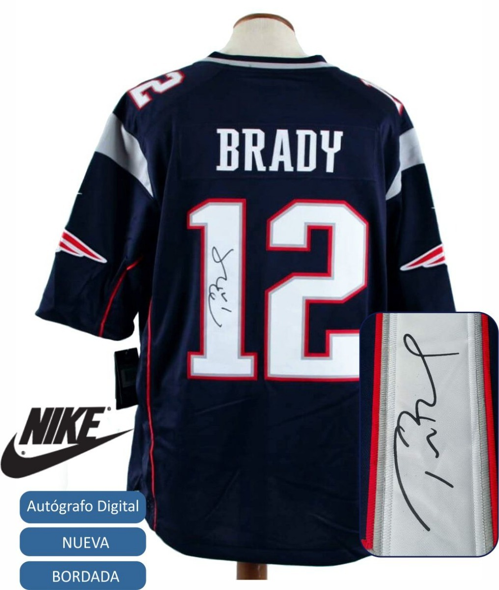 cda307c97f camiseta nfl tom brady con autografo new england patriots xl. Cargando zoom.