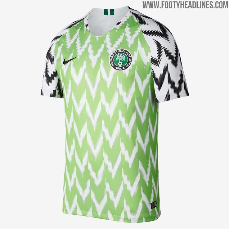 ba5d04907 Camiseta Nigeria Titular Rusia 2018 Envio Gratis -   1.799