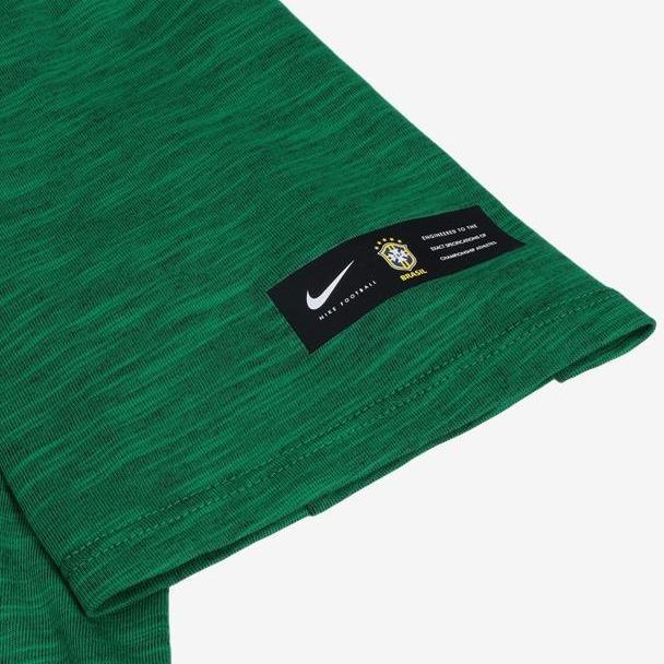 238d7c7079bd1 Camiseta Nike Brasil Concentração Masculina 888867 Verde - R  140