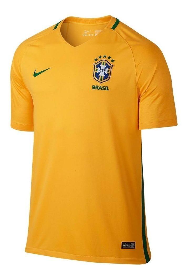 Delegar Ejecutar Desempleados  Camiseta Nike Brasil Home 16/17 - Tu Camiseta Sport Ecuador - U$S 60,99 en  Mercado Libre