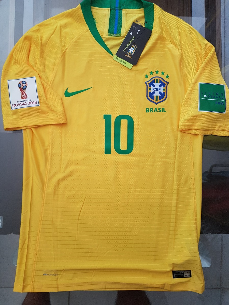 68c03af033eab Camiseta Nike Brasil Titular Match Neymar  10 (al Cuerpo) -   1.368 ...