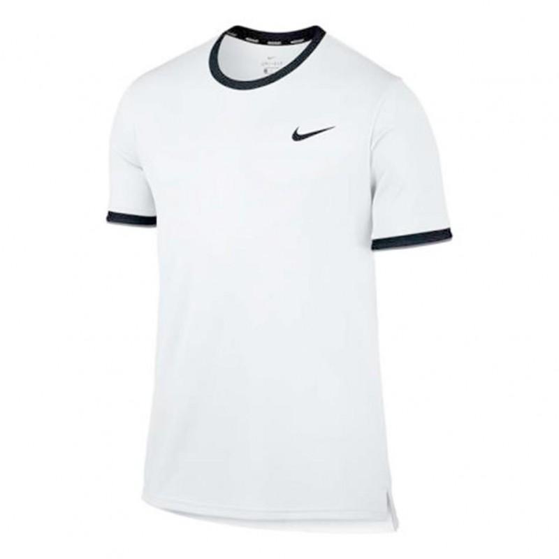 871af86774 camiseta nike court dry tennis branca e preta 830927-100. Carregando zoom.