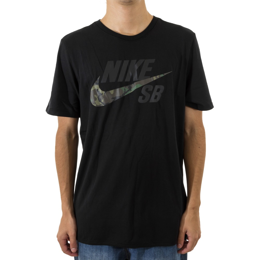 1552d83615 camiseta nike dri-fit logo camo nike sb. Carregando zoom.