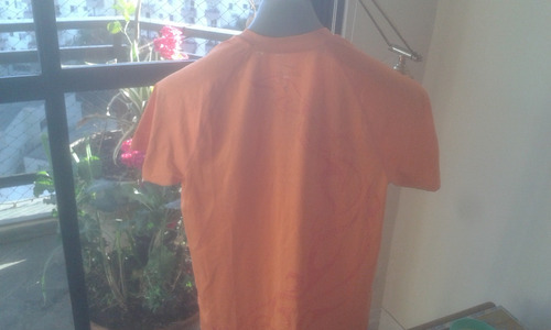 camiseta nike drifit laranja c/detalhes em vermelho super ok