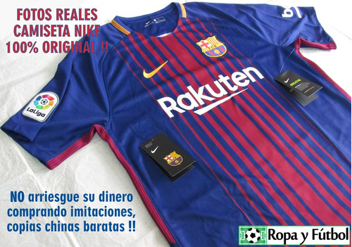 camiseta nike fc barcelona 2017/18 - 100% originales! remate
