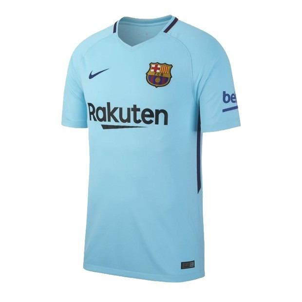 df994108389d5 Camiseta Nike Fc Barcelona Azul Visitante Hombre Original ...