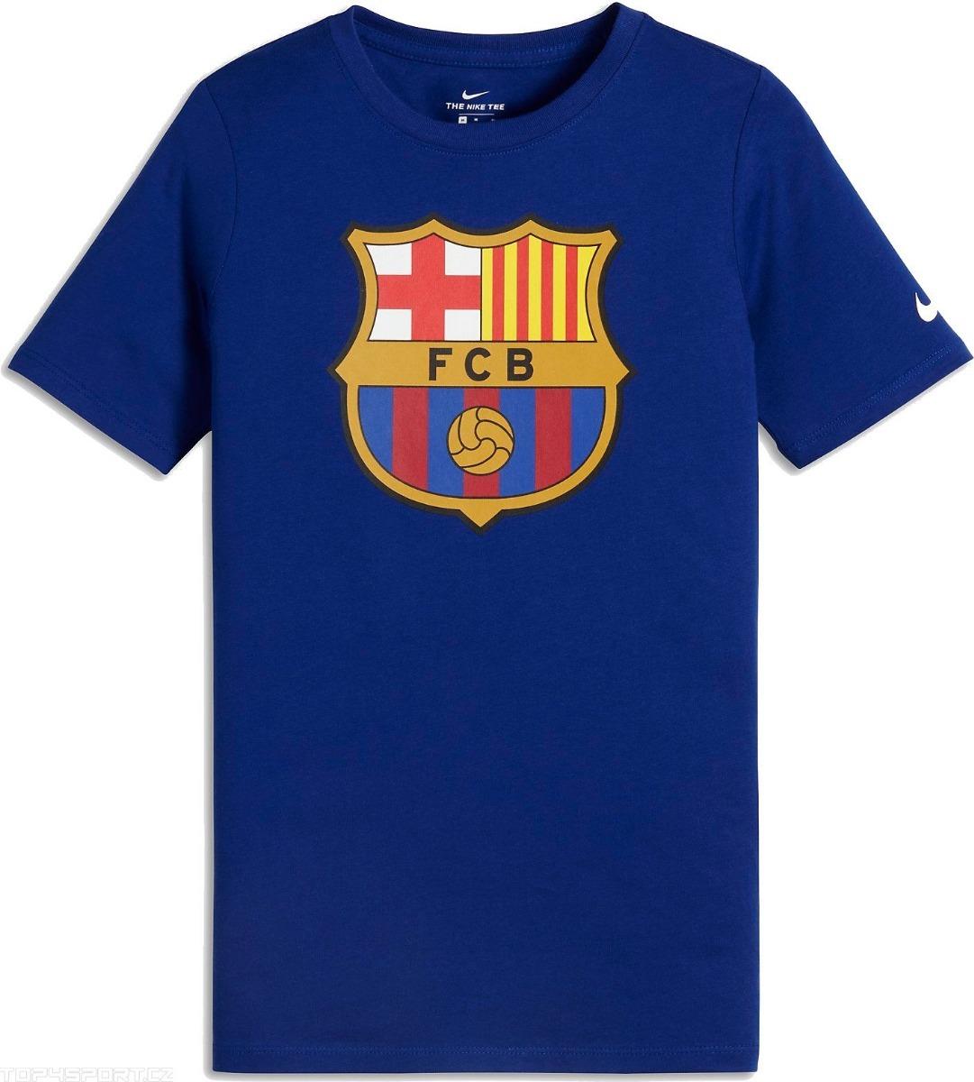 camiseta nike fc barcelona crest tee men shirt original. Cargando zoom. 92032e565a7