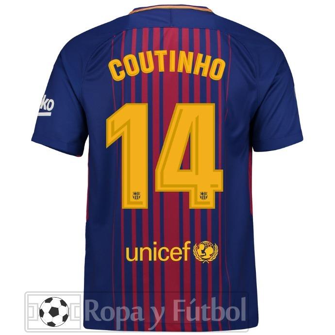 Camiseta Nike Fc Barcelona Stadium 2017 18 - Coutinho 14 - S  249 181a5568b6a