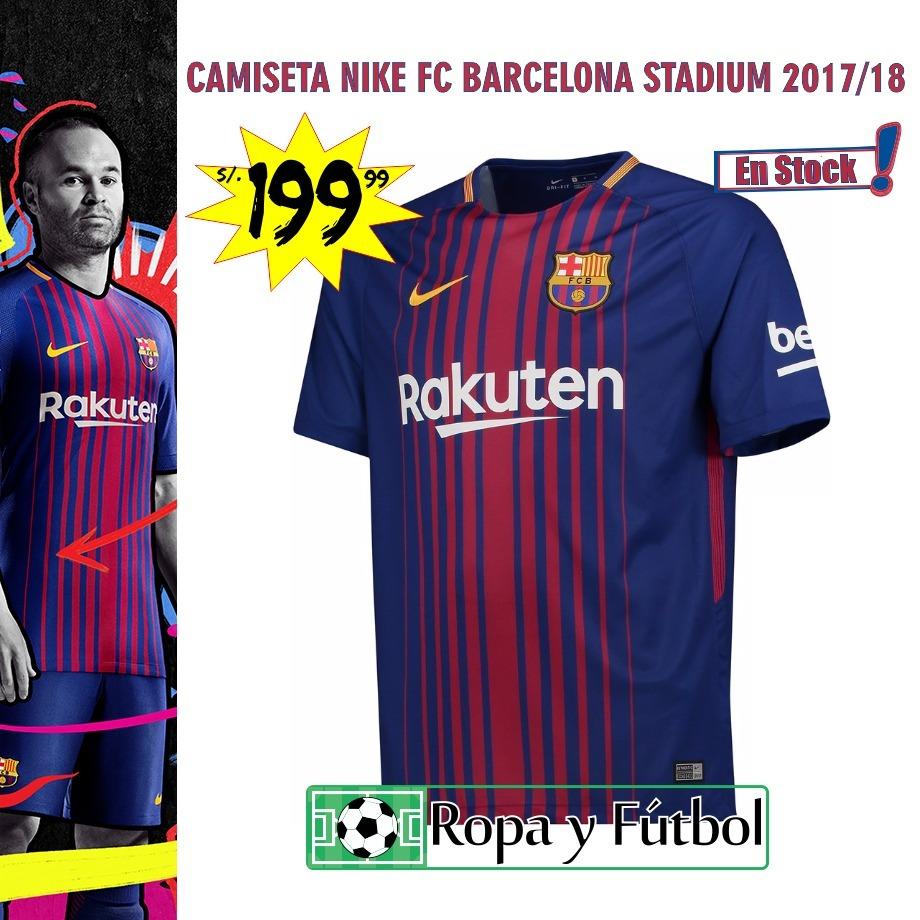 Camiseta Nike Fc Barcelona Stadium 2017 18 - Super Oferta!!! - S ... d692522035b