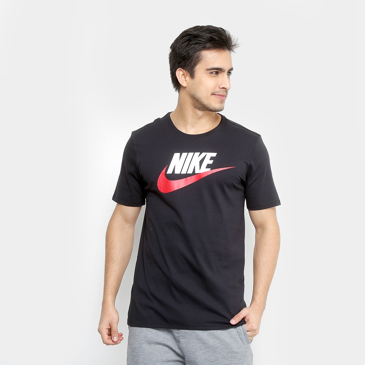 97b9c4b107 camiseta nike futura icon - preto e cinza. Carregando zoom.