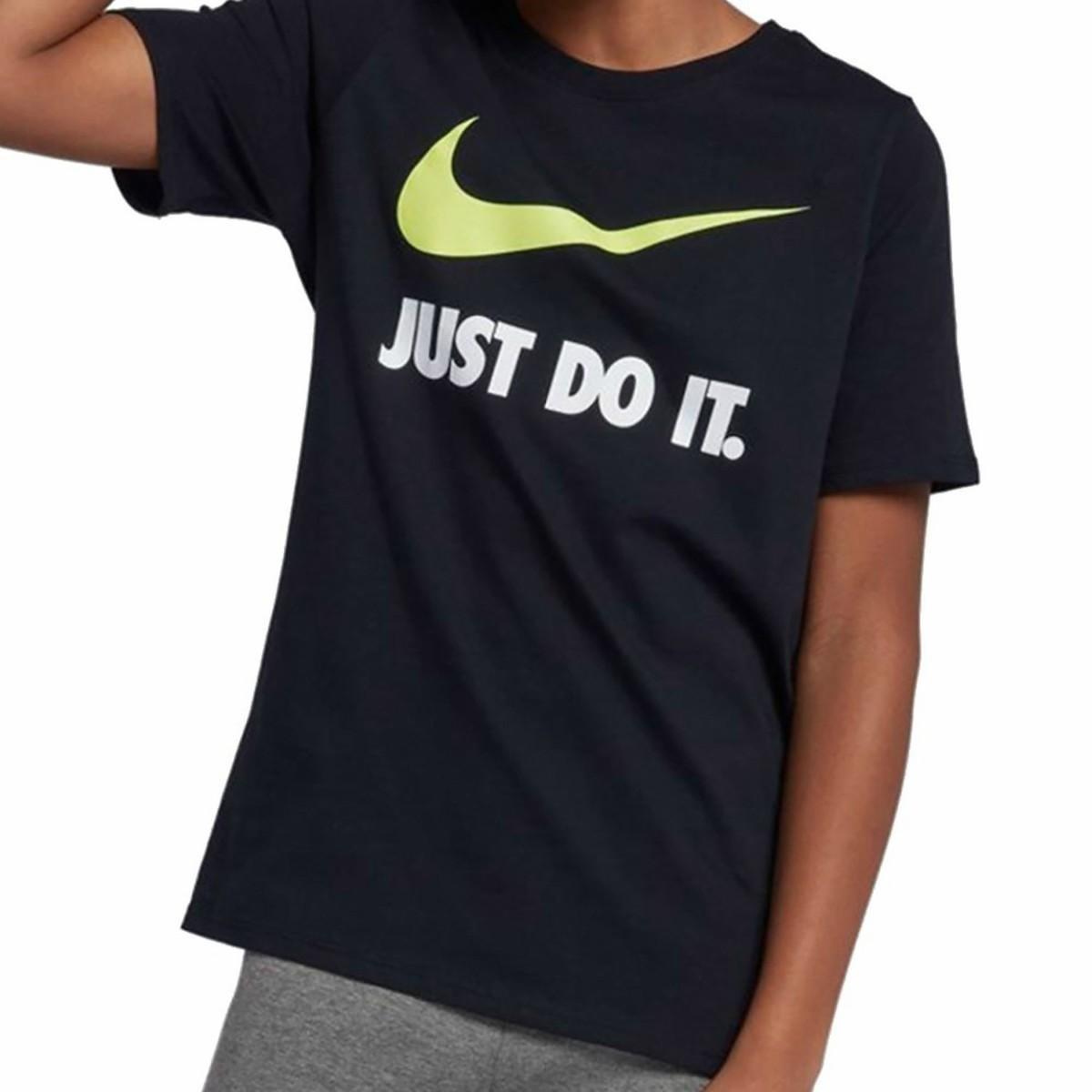 camiseta nike just do it swoosh infantil 709952-010. Carregando zoom. 33bdf77c40d95