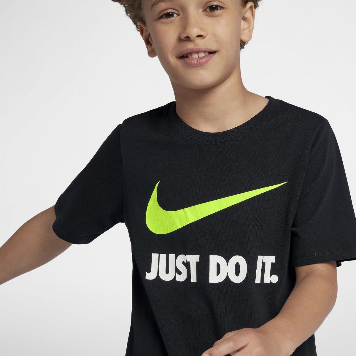 camiseta nike just do it swoosh infantil 709952-010 - g - pr. Carregando  zoom. ec455d98cae75